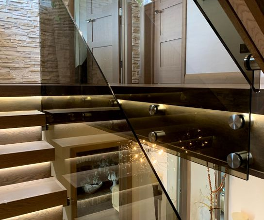Bronze glass balustrade